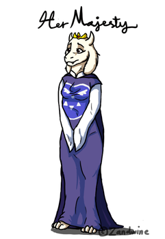 Queen Toriel by Zandwine