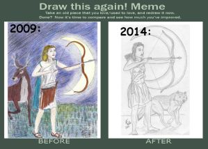 Draw This Again Meme 'Artemis'