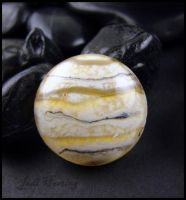 Saturn - Lampwork Glass Cabochon by andromeda