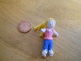 Blondie crochet worry doll by onlyRa