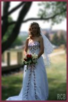 A bride in the park by NOS2002