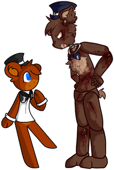 Old vs New style by FNAFkitnn123