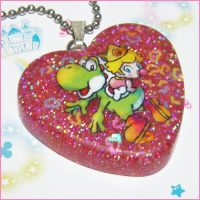 Yoshi's Island Resin Necklace by bapity88