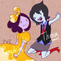Thera and Pumpkin by PvElephant