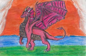 Painting Dragon by Chlorophylltheleaf