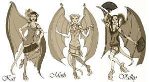 Gargoyles Flappers by Valky