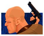 BRUCE WILLIS AS JOHN McCLANE by kgreene