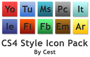 CS4 STYLE .PNG ICON PACK 1.0 by cestnms