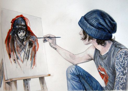 Ville painting Ville by c0smic-creepers