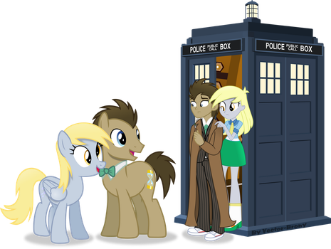 Doctor Whooves and Derpy meet the Doctor and Derpy by Vector-Brony