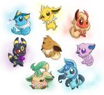 Eeveelutions by homa-Nix