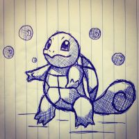 Squirtle Cross-Hatching by WhitexFox2414