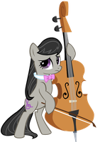 Octavia and her cello vector by megacody2