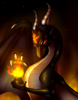 The Dark Dragon Queen - commission by IcelectricSpyro