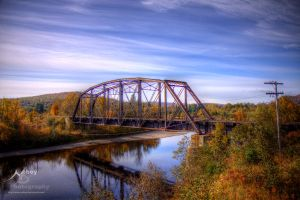 HDR Autumn Train Bridge by Nebey