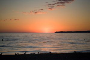 Sunset on Lake MI by Kierhon