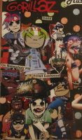 Gorillaz Collage by II2DII