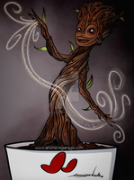 6-17-15 Baby Groot by artinthegarage