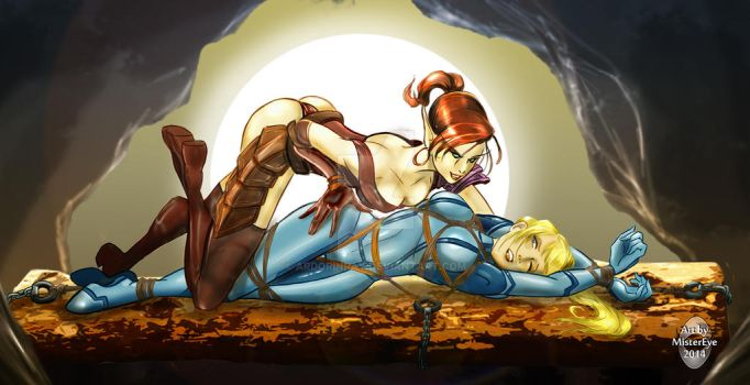 Samus And The Elf by ArdorinRay