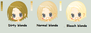 Blonde color pallet by TomiPhantom
