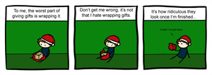 One and One gives Christmas - Wrapping gifts by Sepent