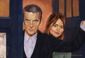 The Doctor and Clara by KarimT