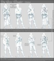The Grey Mouser - Clothes Design Sheet 01 by Herebellama