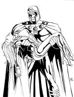 Magneto and Storm INKS by MichaelPowellArt