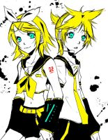 vocaloid: kagamine twins by Kokoruri