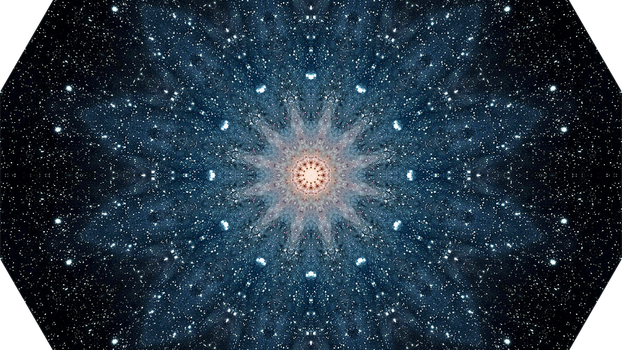 Andromeda Galaxy (m31) - Kaleidoscope (12 sides) by asht0n112358