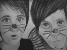 Dan and Phil Sketch by Natashaaaaa