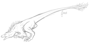 Raptor Sketch by Inkumei