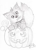 Pup pumpkin by Dismay666