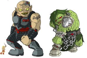 Horde Chibis - Oozor and Gror by happymonkeyshoes