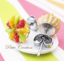 fresh fruit tart earrings 2 by PetiteCreation