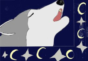 Wolf Howl C by CartoonMad97