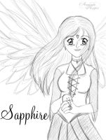 Anime Sapphire lineart by Dannys-angel