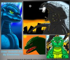 Fun With Older Godzilla Art by Enshohma