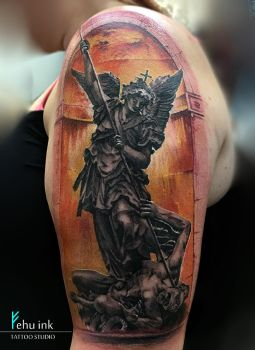 St Michael tattoo by ellegottzi