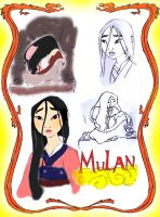 Mulan Sketches by theghostlyartist
