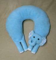 Daphne the Elephan Neck Pillow by Justenjoyinglife