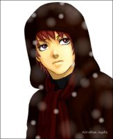 sasori in the snow by sasori-danna23