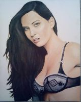 Olivia Munn Painting by oshiomogho