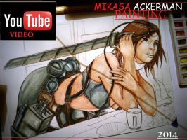 Sexy MIKASA ACKERMAN  -  TIMELAPSE PAINTING VIDEO by GenKey