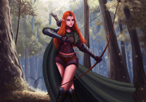 Elf archer - concept character by Saliov