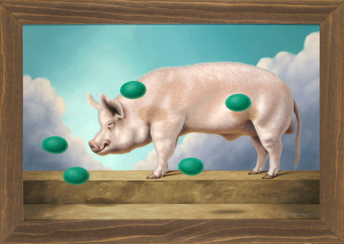Green Eggs And Ham  - 24 x 36 oil on canvas by LindaRHerzog