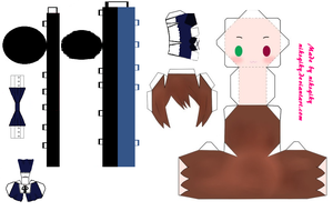Souseiseki papercraft by niksqiky