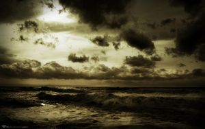 Sepia Sea by l8