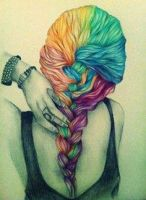 Rainbow Hair by LauraDHunter
