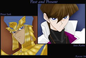 Past and Present-Seto y Seth by KaroruMetallium